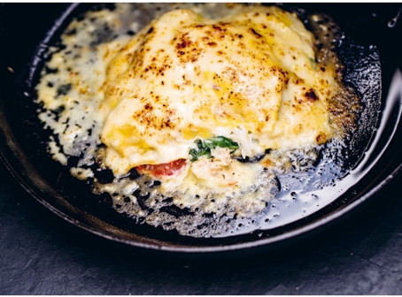 Crab Lasagneby Galton Blackiston from Hook Line Sinker – A seafood cookbook (Face Publications)