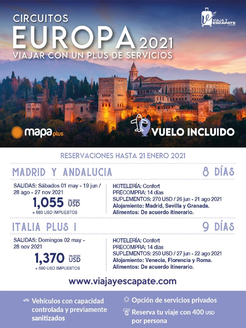EUROPA - MADRID Y ANDALUCIA