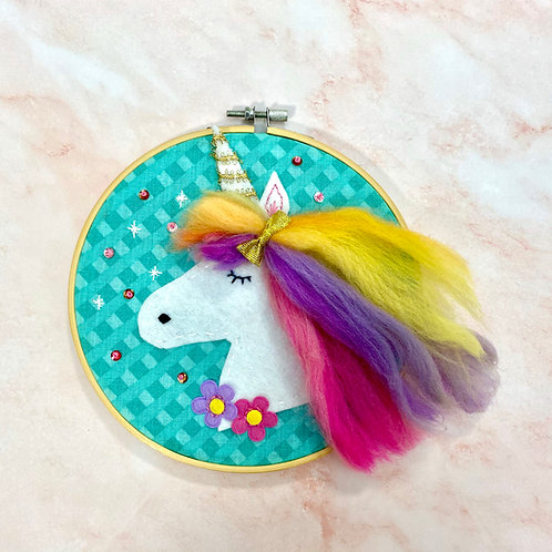 Felt Unicorn Hoop Kit
