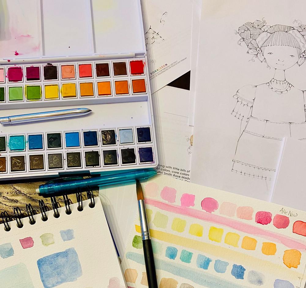 Creative workshops, watercolour