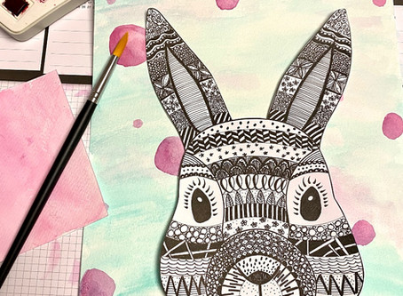 Zentangle Bunny Tutorial