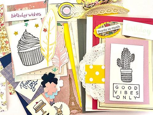 DIY Card Kit - Good Vibes Only