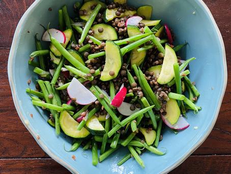 Summer Green Bean, Zucchini & Lentil Salad