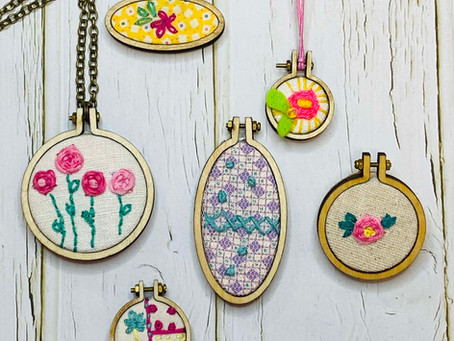 How to create a mini Embroidery Hoop brooch