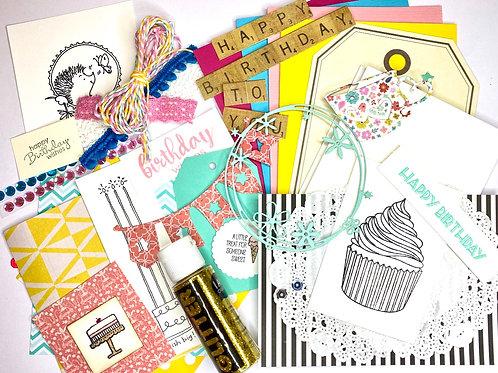 DIY Card Kit - Happy Birthday