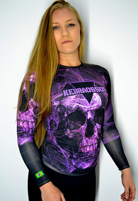 Rash Guard Purpple Skull