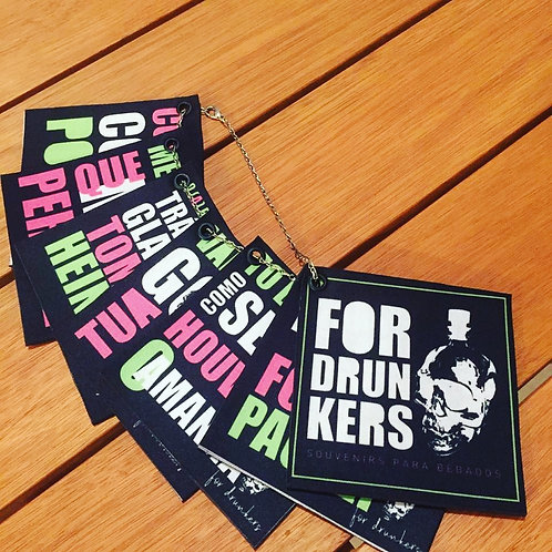 Kit Porta Copos For Drunkers Laváveis - 7 un
