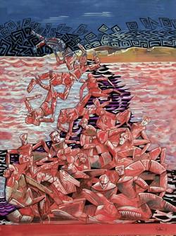 Le passage de la mer Rouge 59 x 39