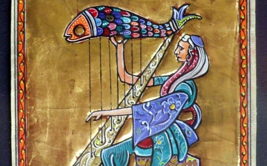 Le roi David et sa harpe