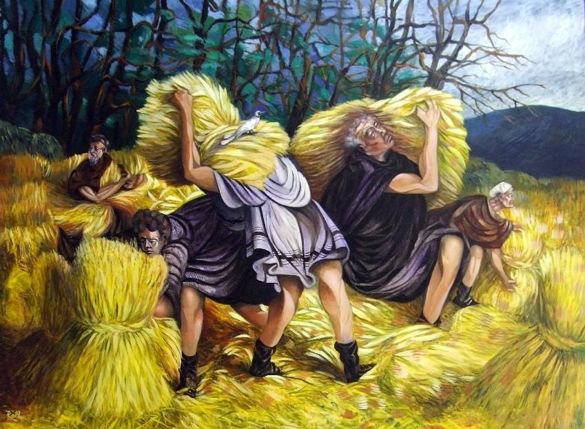 Le ballet des moissonneurs 97 x 130