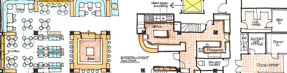 foodservice consultant floorplan, culinary design floorplan of hospitality project, greenbrier hotel
