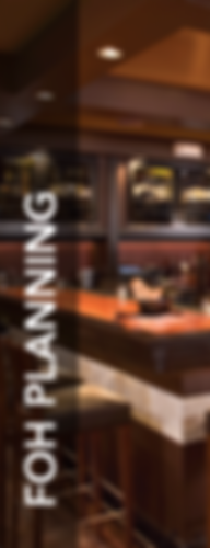 Front of House Planning, for Foodservice Consulting, for Culinary Design, for Restaurant Design