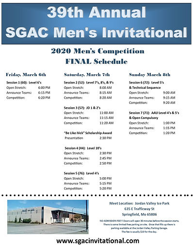 2020 SGAC Mens Invitational Final Meet S