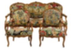 Lavage et restauration réparation fauteuils tapisseries ensemble de sièges trous et usure