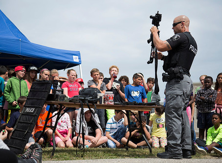 Grade 6 students take part in Windsor Police Service VIP Demonstration Day