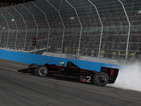 Karam makes late-race pass, wins third straight at Phoenix