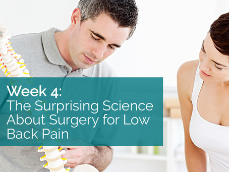 The Surprising Science About Surgery for Low Back Pain