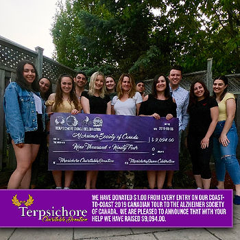 Terpsichore Charitable Donation to Alzheimer Society of Canada