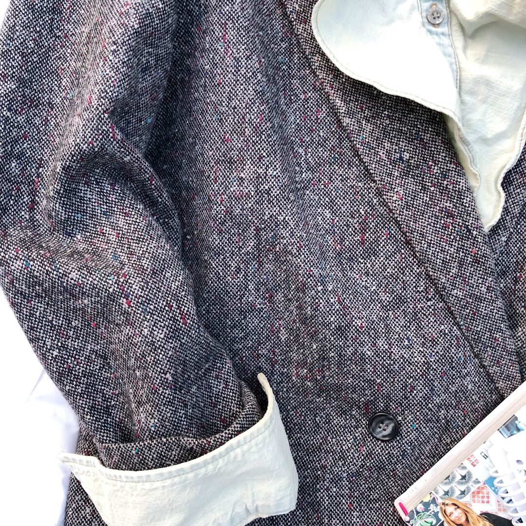 The detail and colors in this tweed jacket.