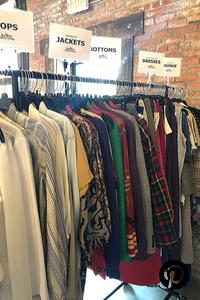 Vintage clothing rack at the Decent Market