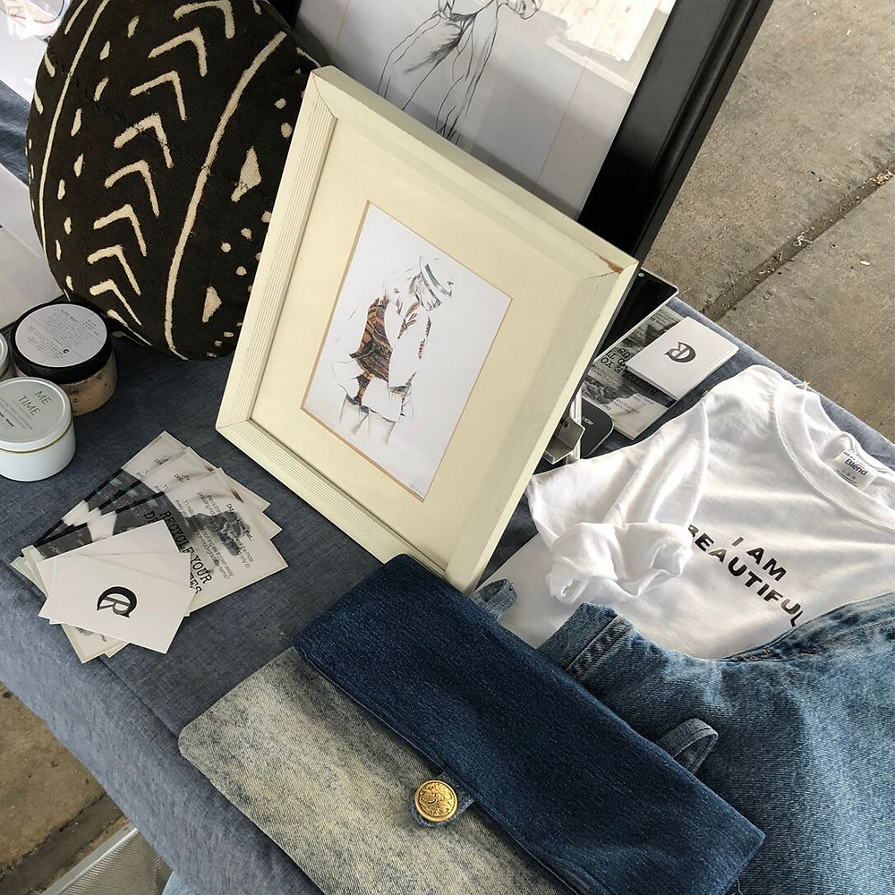 A selection of our handmade and up-cycled items.