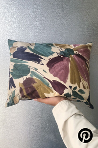 Abstract Floral Rectangle Pillow