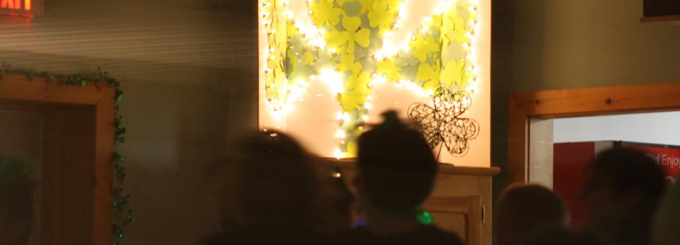 Shamrock lighting up the party