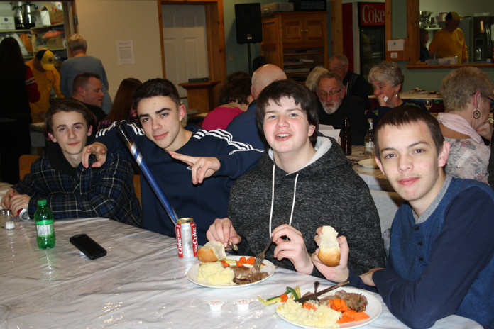 The Jr.s ready for food!