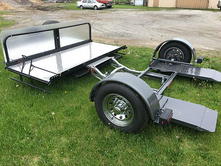 Tow Dollie for Motorcycle up to 800 lbs Tandem towing