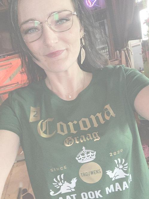 "Merch 2021""2 corona graag, laat ook maar"" sweater"