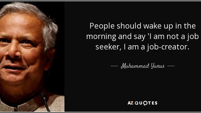 Muhammed Yunus me fez acreditar que é possível mudar o mundo