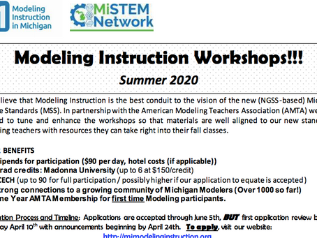 Modeling Workshops Summer 2020
