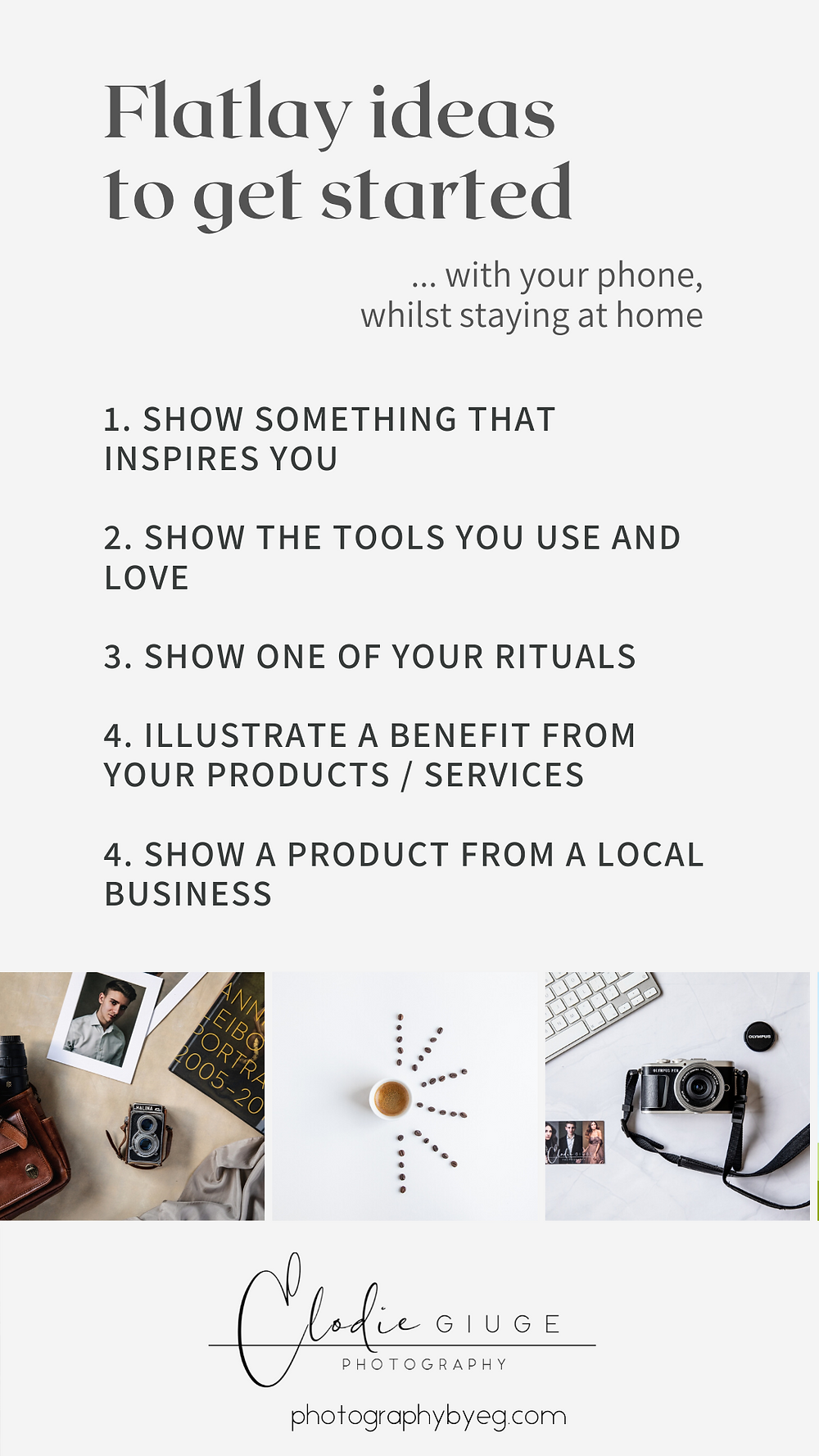 Flatlay ideas for small businesses