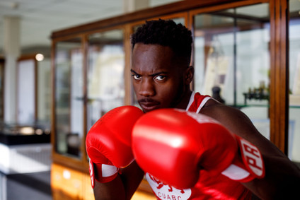 Environmental Portrait. Boxing. Cambridge University. Elodie Giuge Photography
