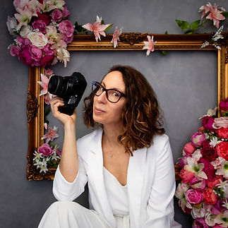 Headshot of Cambridge Photographer Elodie Giuge