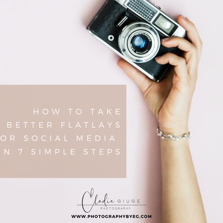 How to take better flat lays for social media in 7 simple steps