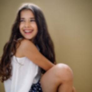 Young girl model headshot by Cambridge photographer