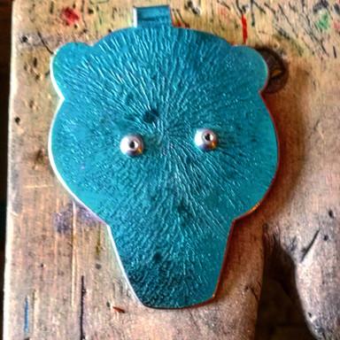Blue Bear Pendant