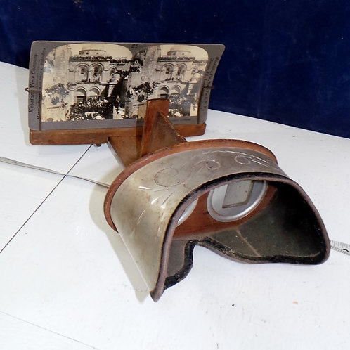 Stereoscope With One Card Mfg By American Stereoscopic Co