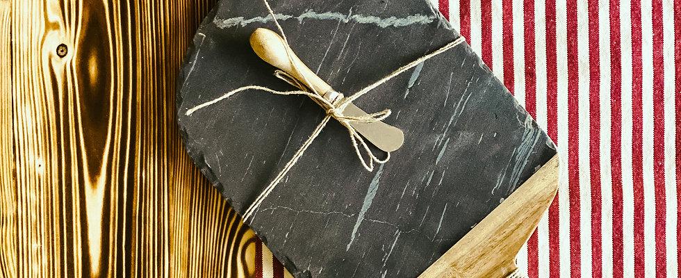Slate & Wood Board Set
