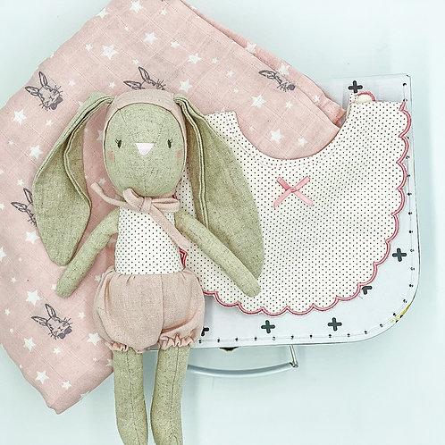Sweet Little Bunny Doll Basket