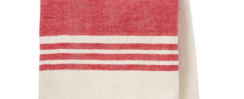Striped Woven Brushed Throw
