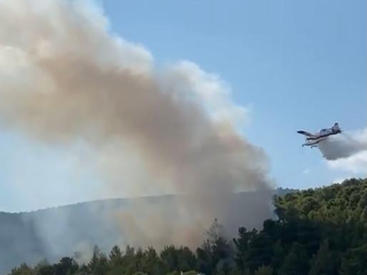 Πυρκαγιά στην Αγ Παρασκευή στους πρόποδες της Πάρνηθας-Έρευνες για τα αίτια από την Πυροσβεστική!