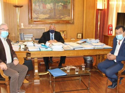 Συνάντηση του Υπουργού Αγροτικής Ανάπτυξης Μάκη Βορίδη με το Δήμαρχο Φυλής Χρήστο Παππού
