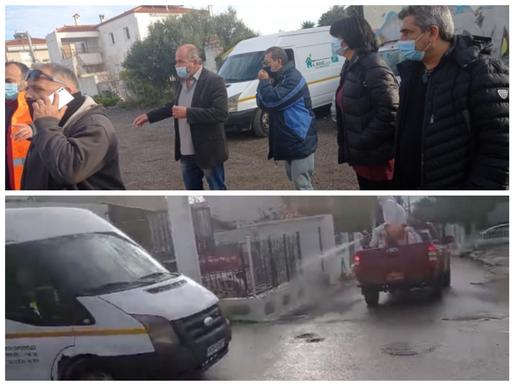 Δήμος Φυλής και Περιφέρεια προχώρησαν σε γιγάντια επιχείρηση απολύμανσης στα Άνω Λιόσια