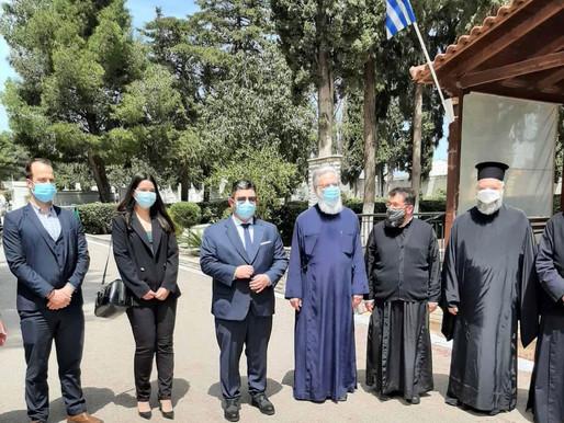 Τρισάγιο στη μνήμη των κεκοιμημένων από τον Μητροπολίτη Αθηναγόρα στο νέο Νεκροταφείο Αχαρνών
