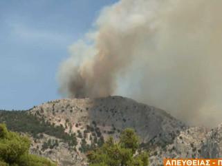 Νέο πύρινο μέτωπο στα ορεινά της Πάρνηθας