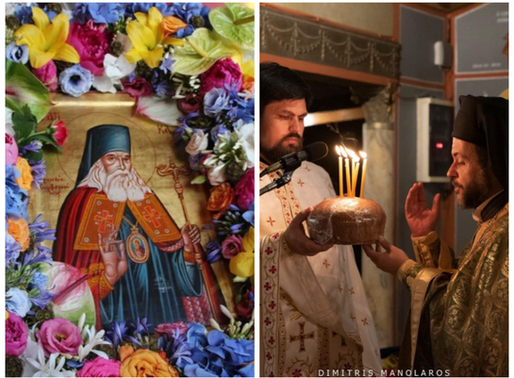 Με λαμπρές τιμές και πλήθος πιστών ο  Εσπερινός του Οσίου Λουκά του Ιατρού στα Άνω Λιόσια