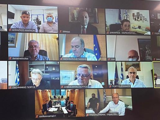 Σε τηλεδιάσκεψη υπό τον Πρωθυπουργό Κ.Μητσοτάκη ο Δήμαρχος Σπύρος Βρεττός για την αντιπυρική περίοδο