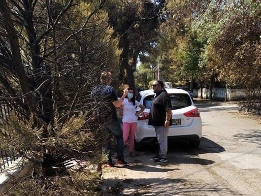 Στο πλευρό των πληγέντων της πυρκαγιάς κλιμάκιο της κοινωνικής πολιτικής του Δήμου Αχαρνών